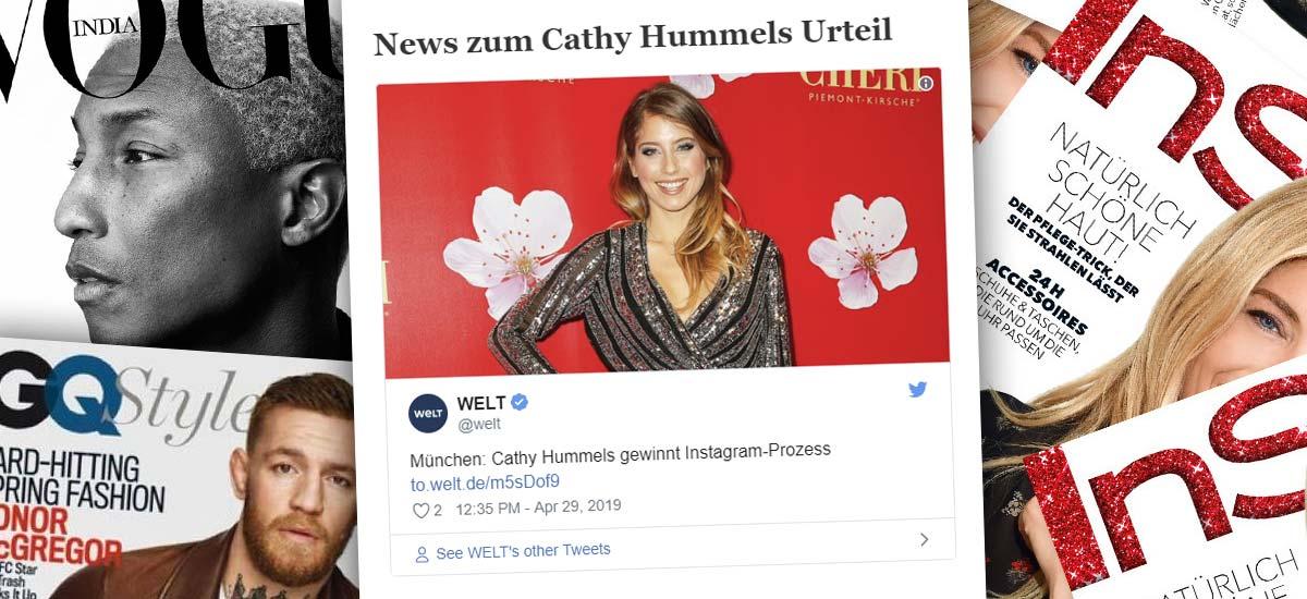 Cathy Hummels vince il processo a Monaco di Baviera: Pubblicità su Instagram - Giudizio