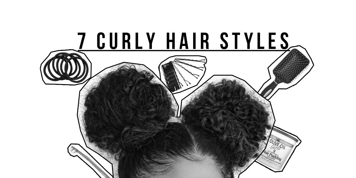 I miei 7 migliori stili di capelli ricci: tutto da Messy a Sleeky Bun