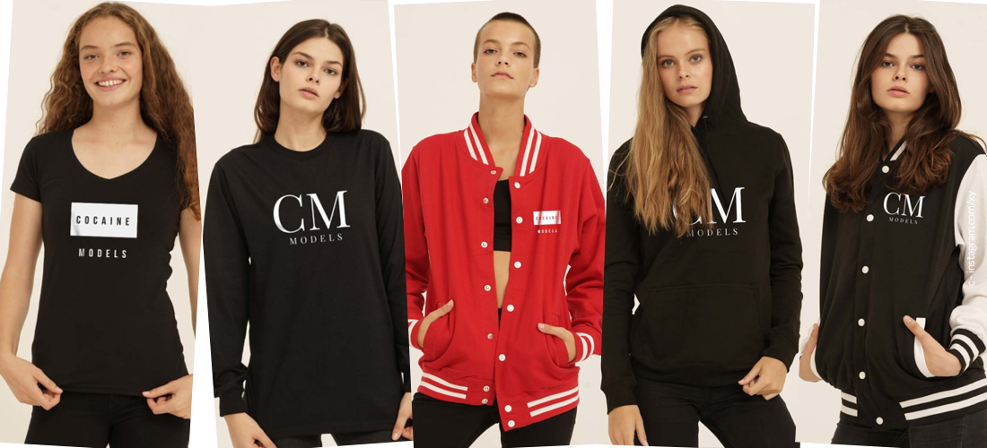 Ora nuovo: il merchandising super cool di Cocaine Models