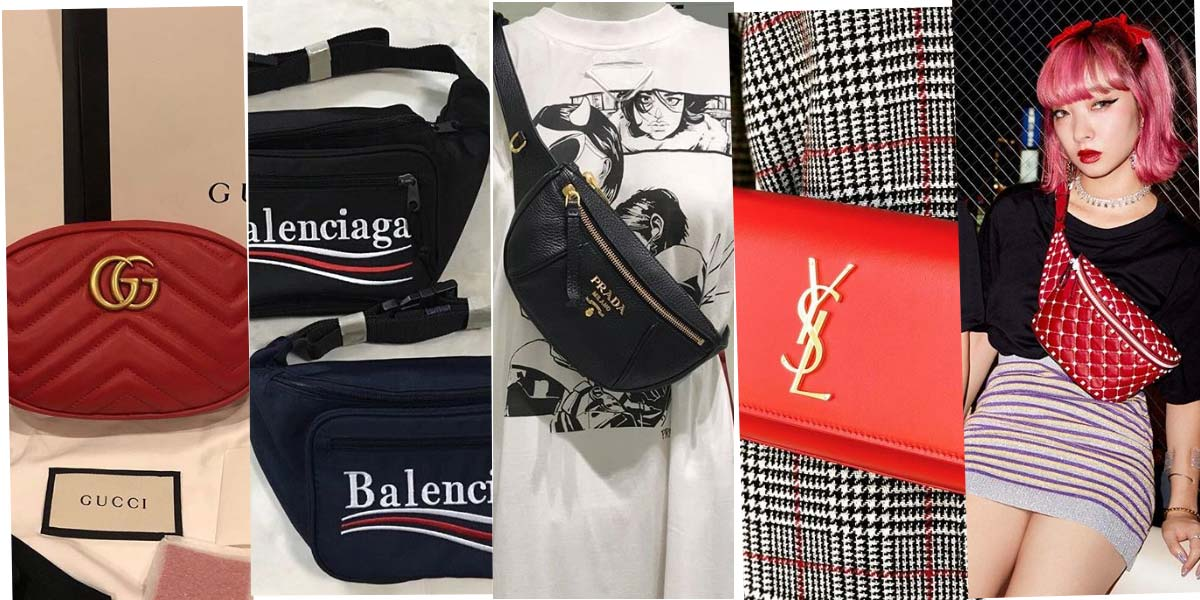 Marche di lusso e marsupi: Valentino, Miu Miu, Prada & Co.