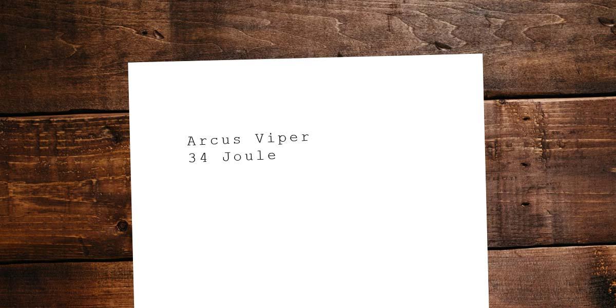 Pistola a CO2 più forte e migliore: Arcus Viper - 34 Joule