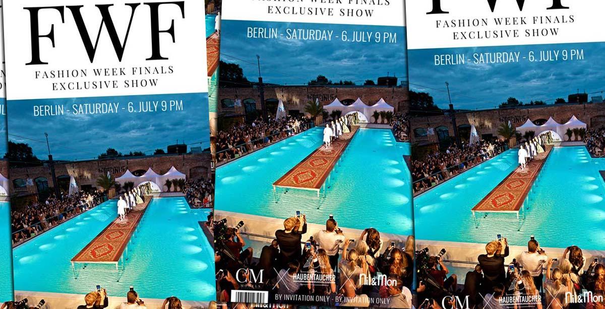 Finali della settimana della moda: Show + Magazine Aftershow Party il 06.07. da Haubentaucher