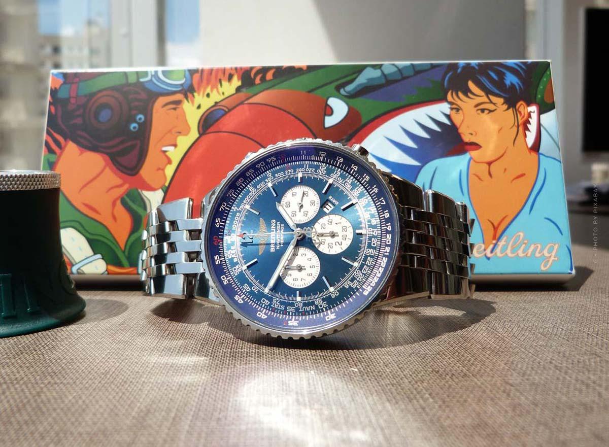 Breitling Navitimer: orologio da pilota con un quadrante speciale per uomini e donne