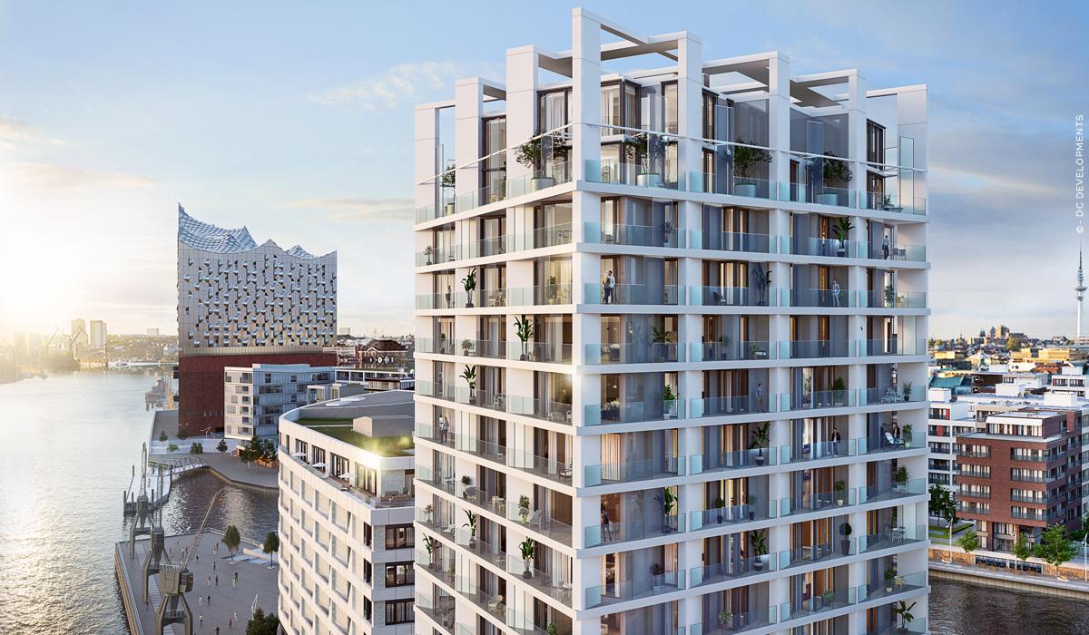 The Crown: Proprietà di lusso Hamburg HafenCity - Condomini con vista sulla Elbphilharmonie! Nuova costruzione